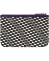 Pierre Hardy - Blue Tricolor Perspective Cube Zip Pouch - Lyst