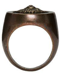 Versus Metallic Gold Lion Ring for men