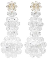 Simone Rocha | Multicolor Transparent Floral Beaded Earrings | Lyst
