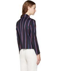 Altuzarra - Blue Navy Striped Dandridge Blazer - Lyst
