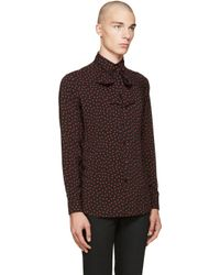 Saint Laurent Black 70's Polka Dot Shirt for men