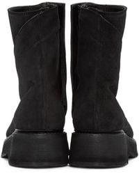 Julius Black Twisted Zip-up Boots for men
