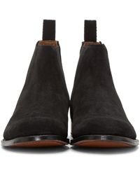 Grenson | Black Suede Declan Chelsea Boots for Men | Lyst