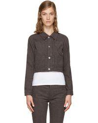 Visvim | Gray Brown Corduroy Slub Jacket | Lyst
