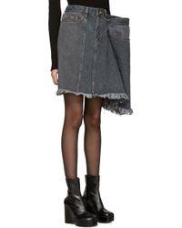 Facetasm - Black Denim Miniskirt - Lyst