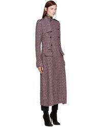 Haider Ackermann Pink Houndstooth Double-breasted Coat
