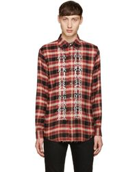 Christian Dada Red Classic Cut-off Shirt for men