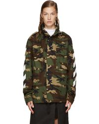 5330b1c693d37 Off-White c/o Virgil Abloh Green Camouflage M65 Jacket in Green - Lyst