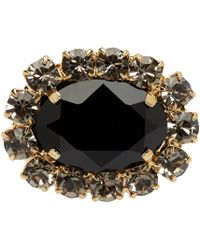 Erdem Black Jewel Hair Clip