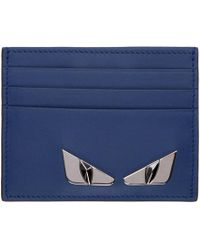 Fendi - Blue Bag Bugs Plaque Card Holder - Lyst