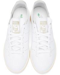 Adidas Originals - White Stan Smith Lea Sock Sneakers for Men - Lyst