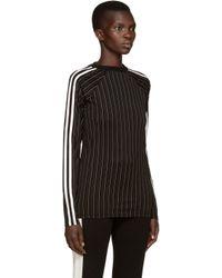 Wales Bonner - Black Striped Maximilian T-shirt - Lyst