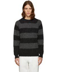 Noah - Black Striped Sweater for Men - Lyst