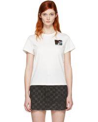 Marc Jacobs White Ivory 'mtv' T-shirt