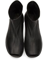 Rick Owens Black Sock Sabot Boots
