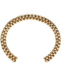 Balmain | Metallic Gold Scoubidou Bracelet | Lyst