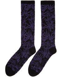 Lanvin Black Jacquard Socks for men