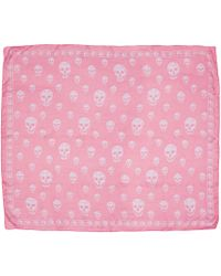 Alexander McQueen   Pink Skull Scarf   Lyst
