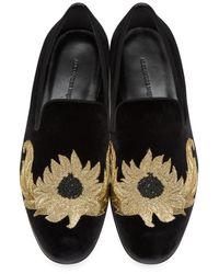 Alexander McQueen | Black Sunflower Loafers for Men | Lyst
