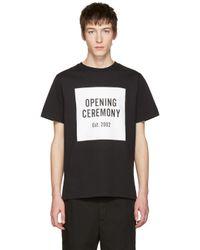 Opening Ceremony Black Logo T-shirt for men