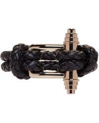 Givenchy | Black Braided Obsedia Bracelet | Lyst