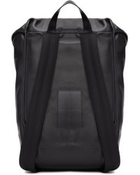 Givenchy Black Leather Ride Backpack for men
