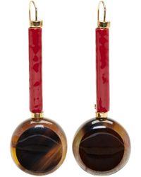 Marni   Multicolor Tortoiseshell Round Drop Earrings   Lyst