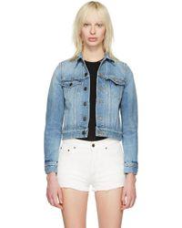 Saint Laurent Blue Denim 'love' Jacket