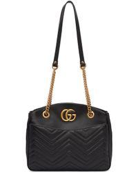Gucci   Black Medium Gg Marmont Tote   Lyst
