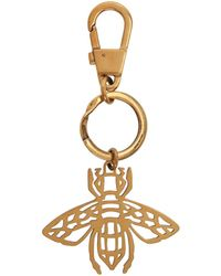 Gucci Metallic Gold Bee Keychain