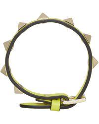 Valentino   Yellow Small Rockstud Bracelet   Lyst