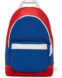 AMI Blue & Red Colorblock Backpack for men