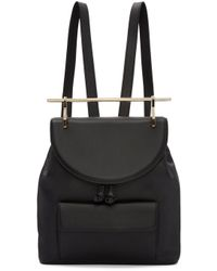 M2malletier   Black Leather Backpack   Lyst
