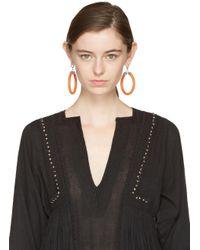 Isabel Marant - Orange Tube Earrings - Lyst