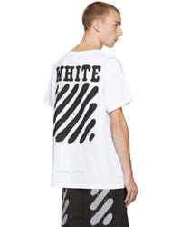 Off-White c/o Virgil Abloh White Diagonal Spray T-shirt for men