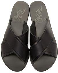 Ancient Greek Sandals | Black Thais Sandals | Lyst