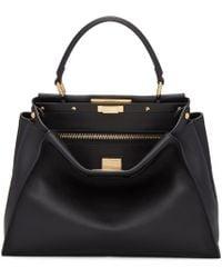 Fendi Black Regular Peekaboo Bag