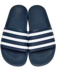 Adidas Originals Blue Navy Adilette Slide Sandals