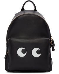 Anya Hindmarch - Black Mini Eyes Right Backpack - Lyst