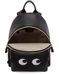 Anya Hindmarch - Black Mini Eyes Right Backpack - Lyst