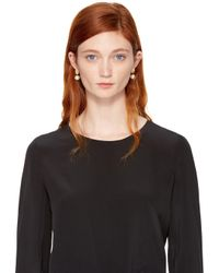 Chloé - Black Gold Darcey Round Earrings - Lyst
