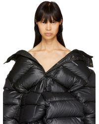 Balenciaga | Black Fur Button Earrings | Lyst