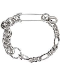 Valentino | Metallic Silver Pin Bracelet for Men | Lyst