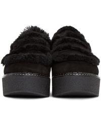 Flamingos - Black Suede Loco Slip-on Platform Loafers - Lyst