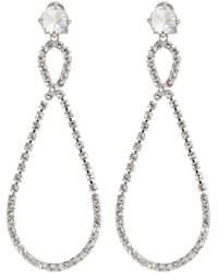 Miu Miu | Metallic Silver Large Crystal Teardrop Earrings | Lyst