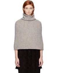 Lauren Manoogian Gray Grey Sleeveless Turtleneck