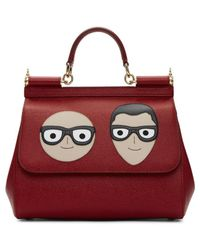 aff68c0cf655 Lyst - Dolce   Gabbana Red Medium Designers Miss Sicily Bag in Red