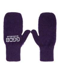 Golden Goose Deluxe Brand Purple Diddy Gloves for men