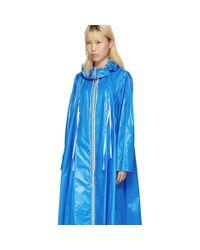 CALVIN KLEIN 205W39NYC Blue Drawstring Tent Coat