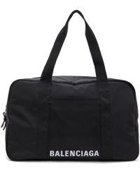 メンズ Balenciaga ブラック エコニール® ロゴ ダッフル バッグ Black